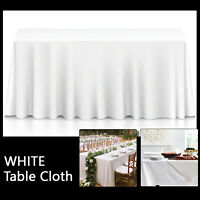 White Tablecloth Table Cover Cloth Rectangular Wedding Decor party cloths