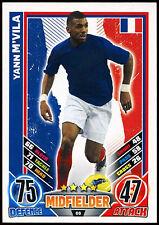 Yann m'vila france #66 angleterre 2012 match attax tcg card (C206)