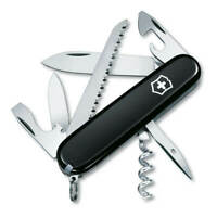 Victorinox Swiss Army Pocket Knife Camper Black Handle, 91mm 53303