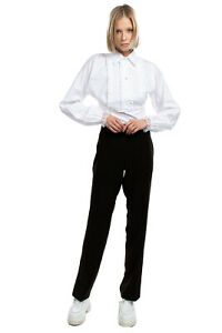 Tailored Trousers Size 42 / S Flat Front Zip Side Regular Fit Made in Italy