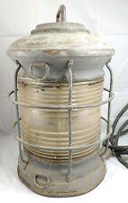 Vintage Brass Bronze Lovell Arlington Nj Marker Light Ship Navigation Lantern