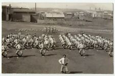 Canadian Military College Cadets training somewhere in Canada 1920-40s RPPC 1