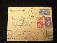 Frankreich 18.11.1936 - MIF Brief Colmar R.P. - Frankleben, Zollamtlich geöffnet