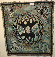Brand New `CELTIC TREE OF LIFE` SMALL Tapestry Throw Blanket - Fringed