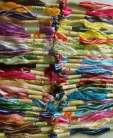 50 Embroidery Variegated Art Silk/Rayon Stranded Skeins, 50 different colours