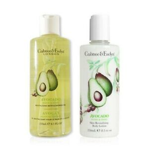 Crabtree Evelyn Avocado Olive & Basil Revitalizing Shower Gel & Body Lotion Duo