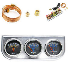 "2"" Auto Car Current+Water Temp+Oil Pressure 3 in 1 Triple Mechanical Gauge Kit"