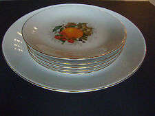 Vtg 60s : Plate/Server & 5 Dessert or Luncheon Plates  FISHER-CHINA  E. Germany
