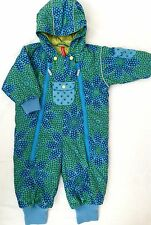 Hanna Andersson Snowsuit Girls Blue Green Flower 80 18-24 months floral hooded