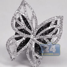 Silver Plated Black Sapphire Butterfly Ring Wedding Fashion Women Jewelry Sz6-10