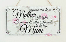 Beautiful Hand Made Plaque Worlds Best Mum Mothers Day Birthday Sign Present