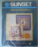 Sunset Bears Ballons Butterflies Counted Cross Stitch Kit 2964