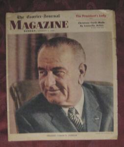 The Courier Journal MAGAZINE December 8 1963 Louisville Kentucky Lyndon Johnson