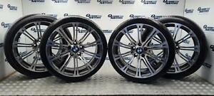 "BMW 220M Alloy Wheel Set 19"" 8.5J 9.5J 3 Series E90 E92 E93 M3 2283555 2283556"