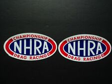 Lot Of 2 Authentic NHRA Championship Drag Racing Decals Stickers Top Fuel