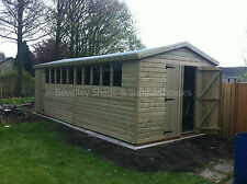 16x10 Heavy Duty 19mm Tanalised Apex Garden Shed, Sheds, Workshop