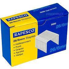 10,000 rapesco 26/6mm. 56 Grapas 26/6 Office Hogar Escuela No56