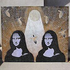 ANDY LAKEY Original MOONLIGHT Multi Media MODERN PAINTING 1998 POP ART Mona Lisa