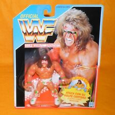 VINTAGE 1991 HASBRO WWF SERIES 2 ULTIMATE WARRIOR ACTION FIGURE MOC CARDED RARE