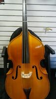 "M3  ENGELHARDT 64 "" TALL  UPRIGHT DOUBLE BASS BASS VIOLIN +PADDED BAG AND BOW"