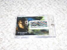 Supernatural Season 3 Inkworks Trading Card Peter Macon A28 Auto Isaac