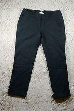 LOFT Ann Taylor Wool-Linen Blend Gray Marisa Cropped Cuffed Pants, Sz 6P