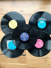 Job lot of 5 x 12 inch LP vinyl records for craft, upcycling projects etc