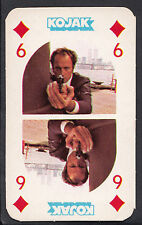 Monty Gum 1975 Kojak Card (Red Back) - Six of Diamonds Playing Card