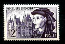 Timbre Jacques CŒUR   n° 1034 de 1955 Neuf ** luxe