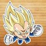 Chibi Super Saiyan Vegeta Dragon Z Die Cut Wall Car Window Decal Sticker