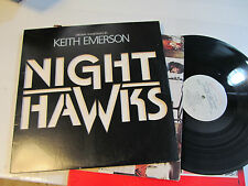 Night Hawks Soundtrack Keith Emerson Sylvester Stallone '81 lp diecut nighthawks
