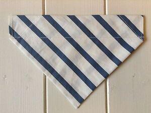 Handmade Seasalt Blue Stripe Over Collar Dog Bandana - various sizes available
