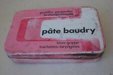 ancienne boîte médicaments PÂTES BAUDRY, pharmacie, en tole, vide