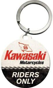 Kawasaki Riders Only Keyring 40mm round (na)