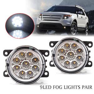2PCS Fog Light Driving Lamp H11 9LED Bulbs Passenger Driver Side Car Accessories