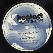 """JOHNNY DEVLIN    Rare 1972 New Zealand Only 7"""" OOP Garage Single """"The Games"""""""