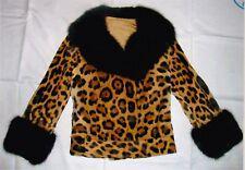 Jaguar Pelzjacke mit Zobelbesatz, Jaguar fur jacket with sable, Ягуарский мех
