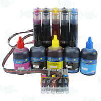 Continuous Ink System with Ink Bottle Set for Canon PGI-270 CLI-271 PIXMA TS5020