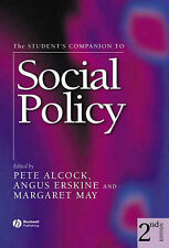 The Student's Companion to Social Policy, By ,in Used but Acceptable condition