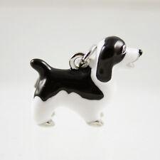 noirs & Blancs Mouton Chien Émaillé Bracelet breloque pendentif