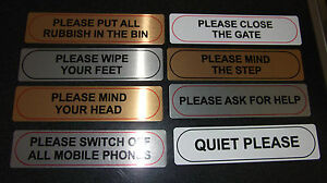 PLEASE SIGNS, POLITE SIGNS, ANY WORDING, BUSINESS HOME OFFICE SHOP B&B
