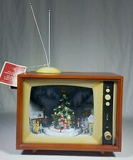 RETRO TV W/ CHRISTMAS TREE & CAROLERS - LIGHTED, MUSICAL & ANIMATED DECORATION