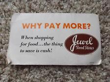 Old Retro Jewel Food Store Advertising Needle Card Book Gold Eye Nickel Plate