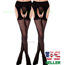 Plus Size New Hosiery Socks Tights Sheer Pantyhose Nylon Hold Up Women Stockings
