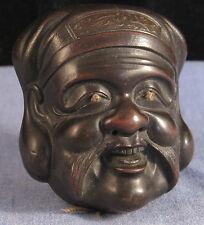 Antique, Museum-Quality, Japanese, Bronze, Netsuke Mask Daikokuten 大黒天 (DAIKOKU)