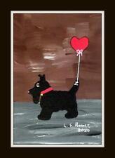 More details for scottie dug valentine  original scottish impressionist oil painting  l s rowly