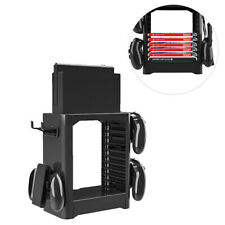 Multi-Function Game Storage Tower Stackable Game Disk Storage Holder Stand Sh`