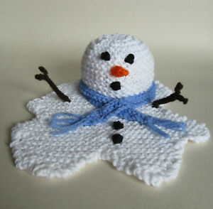 KNITTING PATTERN Melted Melting Snowman Chocolate Orange Cover Christmas