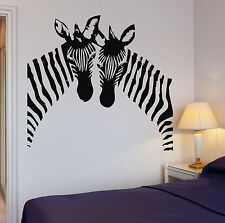 Zebra Wall Stickers Vinyl Decal African Animal Couple Black And White (ig060)