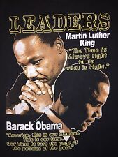 LEADERS President Barack Obama Martin Luther King Cotton T-Shirt USA Large RARE